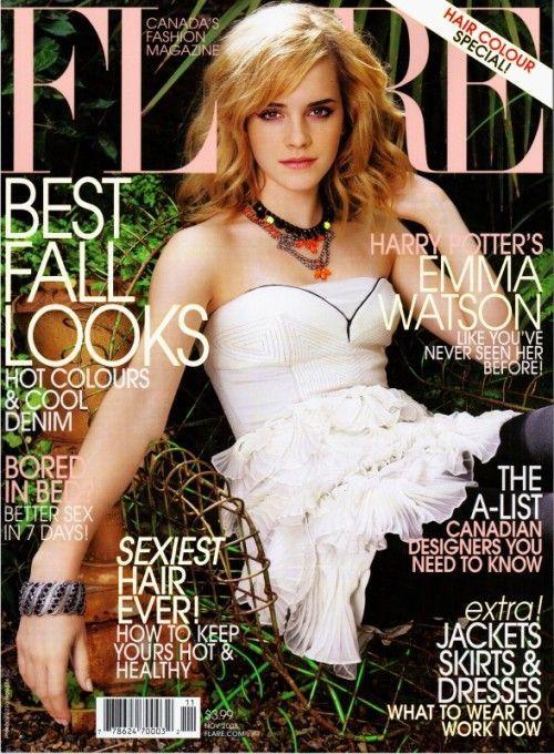 Emma Watson - Flare Magazine Cover (2008) November Issue (usa)