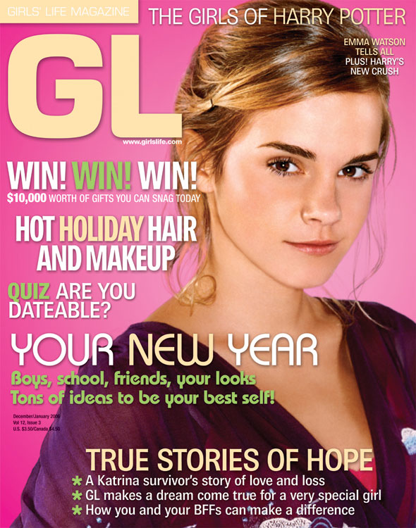 Emma Watson - Girls Life Magazine Cover (2006) December