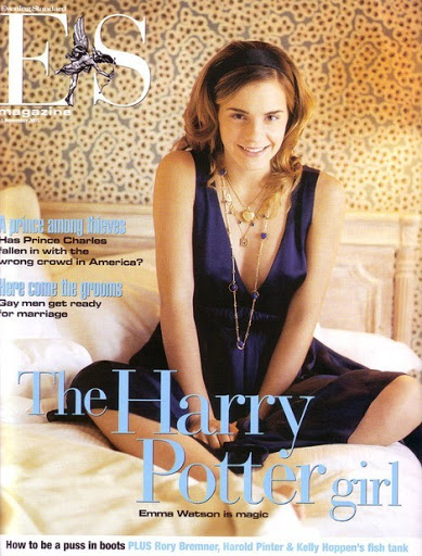 Emma Watson - Evening Standard Magazine Cover by Chloe Mallett - November 2005 issue